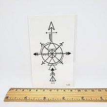 【萌古屋】線條指南針箭頭 - 男女防水紋身貼紙刺青貼紙 T-043