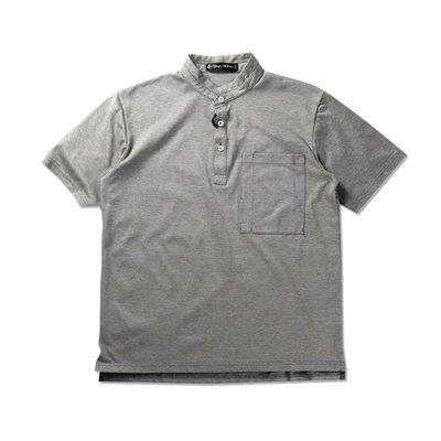 Freaky House-日本Audience Sorbtek涼爽乾燥可回收面料小立領大口袋Polot衫復古黑