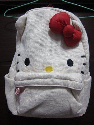 【棠貨鋪】日本限定 Hallmark Hello Kitty 秋冬款後背包 - 白
