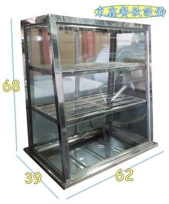 全新 2尺雙層小菜櫥 / 白鐵框菜櫥 / 展示小菜櫥 / 玻璃展示櫃