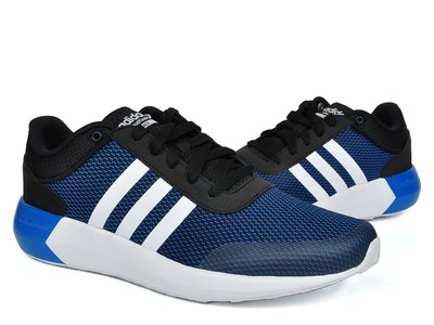 運動go~adidas 愛迪達 CLOUDFOAM RACE 三葉 透氣 輕量 健身 百搭 男款 慢跑鞋 AW5326