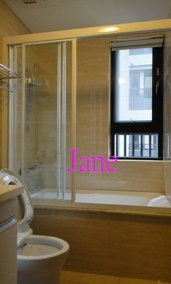 【雅緻專業淋浴拉門2館】免費丈量 台灣製 SG13a浴缸上 白框一字三門清強玻淋浴門乾濕分離衛浴拉門浴室拉門乾溼分離橫拉