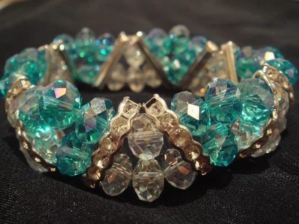 賣家珍藏,全新奧地利水晶鑽石切割面手珠手鍊手環,低價起標無底價!本商品免運費!