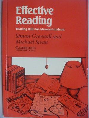 【月界二手書店】Effective Reading-Reading skills.._Greenall〖語言學習〗AGM