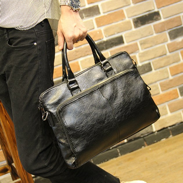 FINDSENSE 韓國男包 G6 男用休閒包耐用公事包簡約男士手提包2019新款男商務公文包休閒包包