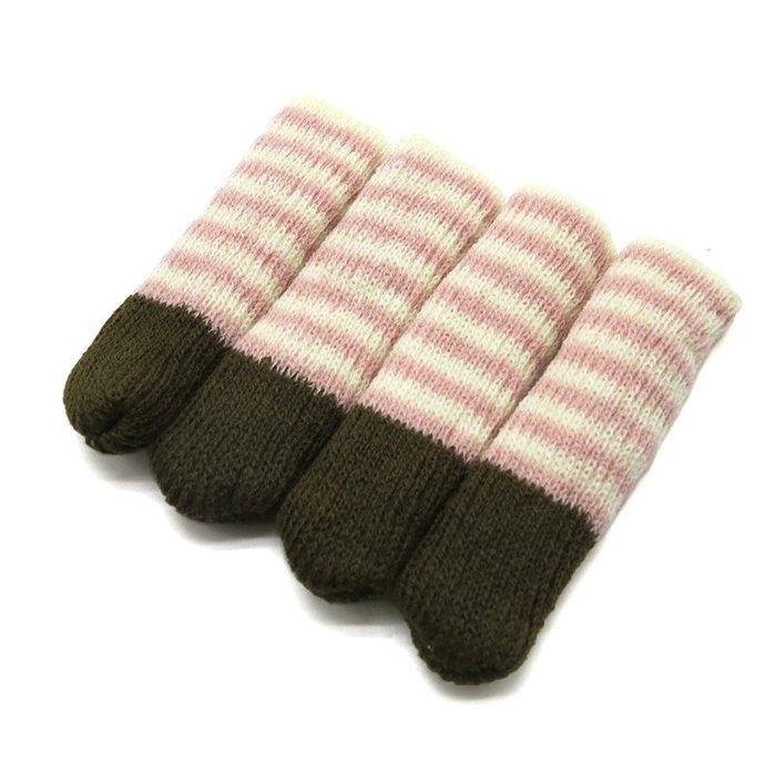 「CP好物」日式條紋長筒椅腳套 桌腳套 床腳套 (3組 共12枚)