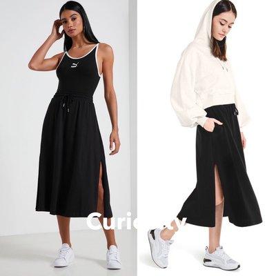 【Curiosity】PUMA 基本系列側開衩中長裙 黑色 歐規XS $1580↘$1099免運