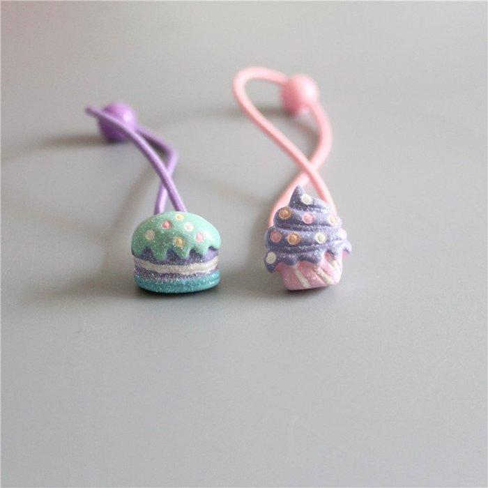 ☆草莓花園☆C156現貨 兒童髮繩 法式甜點 兒童髮飾 拍照攝影頭飾髮飾