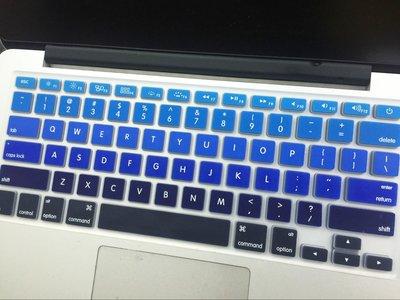 *蝶飛*英文版mac 蘋果鍵盤膜macbook pro retina air 13吋13.3吋15.4吋 漸變