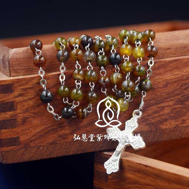 【弘慧堂】  4mm玫瑰經念珠 天主教聖物 耶穌基督 聖母瑪利亞 十字架
