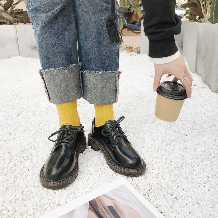 馬丁鞋女森系2018韓版秋新款原宿小皮鞋女英倫學院風復古女牛津鞋