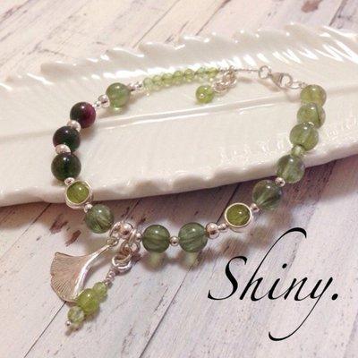 【亮穎晶石 -Shiny-】~銀杏綠磷...