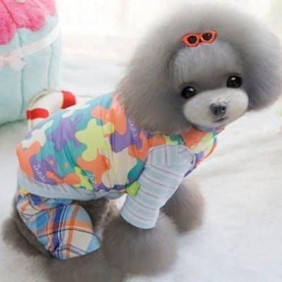 狗狗衣服 秋冬寵物衣-加厚舒適保暖迷彩寵物用品2色73ih85[獨家進口][米蘭精品]