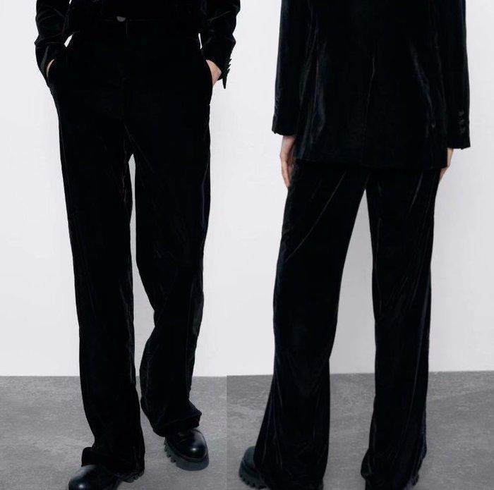 ##西裝褲##歐美新款冬季天鵝絨直筒褲西裝褲休閒褲Y13-27913
