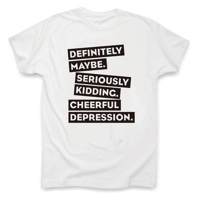 優生活~Cheerful Depression 令人愉悅的憂傷正經的玩笑 旁白原創設計T恤