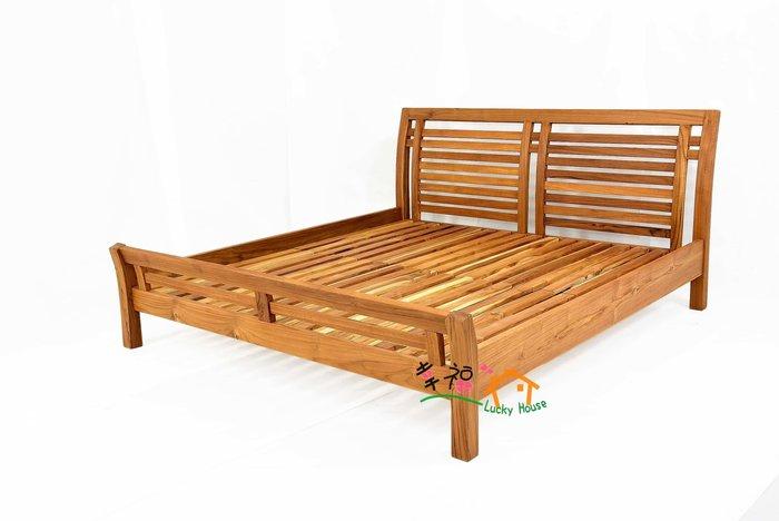 幸福家傢俱 全柚木 BFH床架 6尺X6.2尺 實木床架