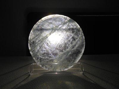 珍稀-53mm海藍寶石-海水藍寶石圓盤大裸石-透光清澈款-A