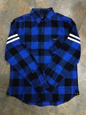 瘋狂低價!NEXHYPE早期經典格紋長袖拼接合成皮條紋襯衫checked shirt