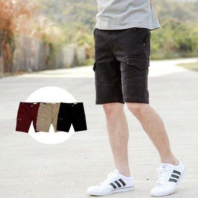 柒零年代【NB0492J】韓國製側口袋素面斜紋布休閒短褲(PA-HB031)