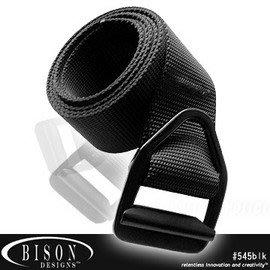 【ARMYGO】BISON DESIGNS 最後機會輕型黑扣腰帶 #545BLK