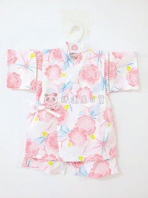 ✪胖達屋日貨✪褲款 100cm 白底 牡丹 日本 女 寶寶 兒童 和服 浴衣 甚平 抓周 收涎 攝影