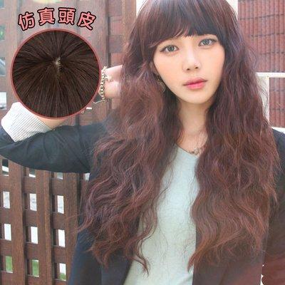 韓系女孩超修臉蓬鬆長捲假髮【MA114】高仿真超自然整頂假髮☆雙兒網☆