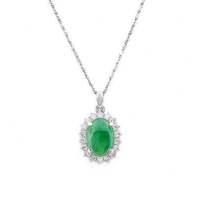 【JHT金宏總珠寶/GIA鑽石專賣】4.71ct天然翡翠鑽石項鍊/材質:PT900(JB23-A052)