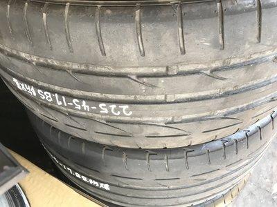 中古胎 普利斯通 S001 225/ 45/ 17 失壓續跑胎 不對稱花紋性能胎 PS4 RE003 SSR ZP 新北市