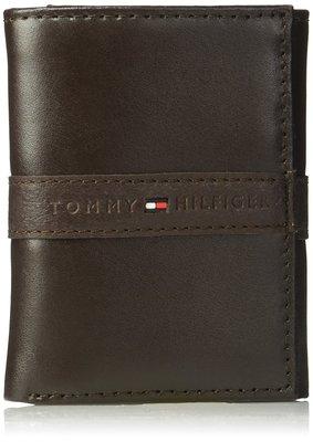 Tommy Hilfiger 全新 現貨 RFID Blocking 棕色 三折皮夾 100%皮革 美國購入 保證正品