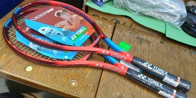 總統網球(自取可刷國旅卡)2021 Yonex VCORE FEEL 網球拍 藍紅版 公司貨 原廠已穿線 重量250g