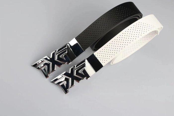新款高爾夫PXG男女時尚金典黑白兩色高爾夫皮帶均碼自由裁剪