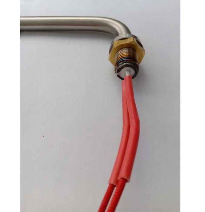 L型 白鐵電熱管AC110V 管長23公分850W 管長19公分 850W