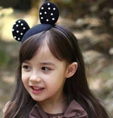 女童 珍珠耳朵造型女童髮箍 69元
