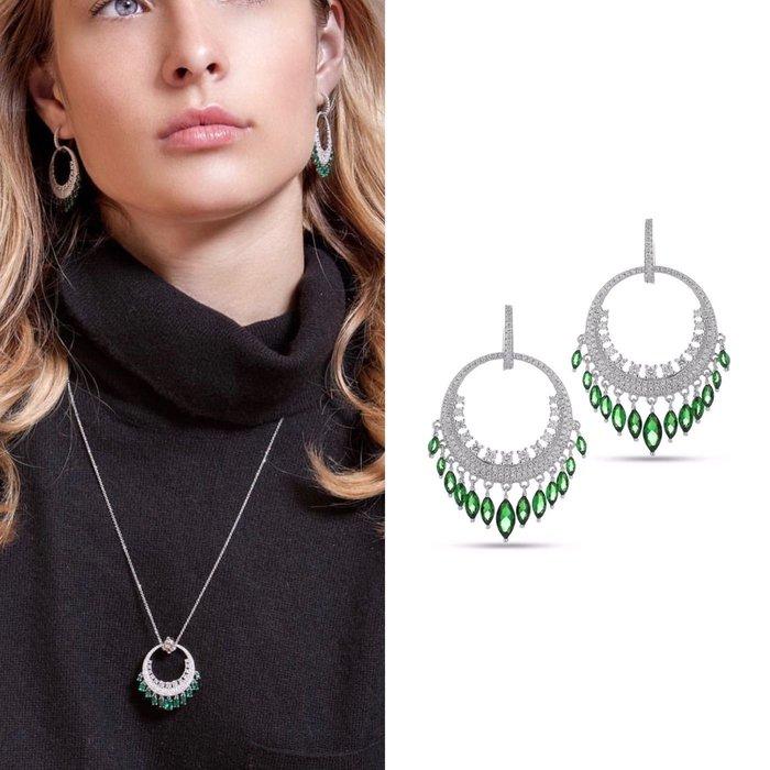 💎1447、珠寶級滿鑽大圈祖母水滴鑽緣名媛耳環💎正韓飾品 耳環 珠寶 925純銀針