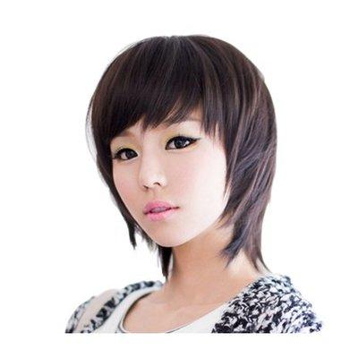 整頂 假髮 真髮絲-手織時尚可愛短髮女假髮73vc10[獨家進口][米蘭精品]