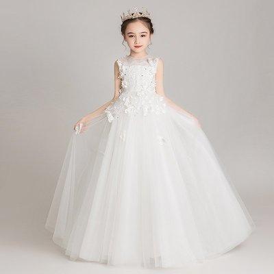 漢服 連身裙 長裙 童裝 旗袍兒童禮服公主裙蓬蓬紗主持人鋼琴演出服女童小女孩洋氣花童婚紗裙