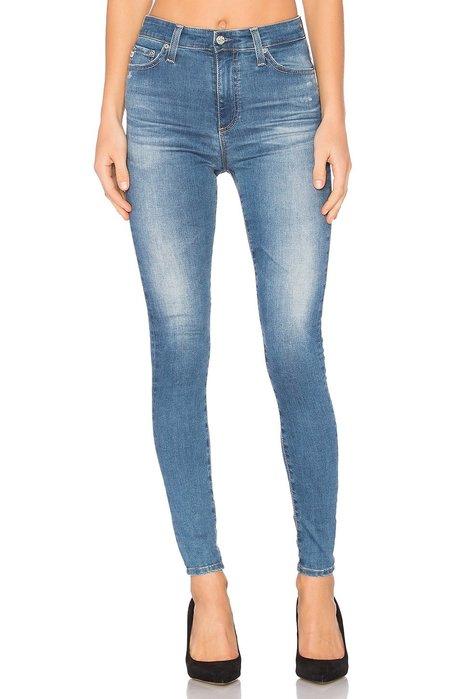 ◎美國代買◎AG Mila Skinny 淺藍刷色高腰包覆合身顯廋牛仔褲
