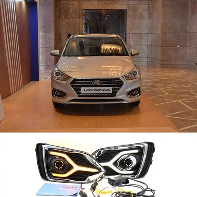 DRL For Hyundai Accent Verna Solaris 2018+ With Yellow Light
