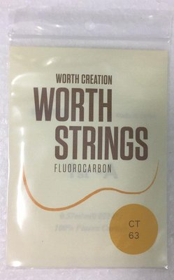 【山姆 樂器工作室】 買1送1!! 日本Worth String烏克麗麗透明弦 CT 26吋