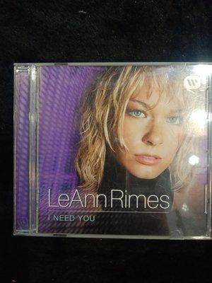 黎安萊姆絲 LeAnn Rimes - I Need You - 2001年Curb版 - 81元起標  西洋 R824
