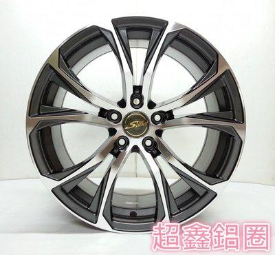 【A-3678】 18吋鋁圈  5孔100 5孔114 5孔120 類 LEXUS RX 原廠鋁圈 亮鐵灰車面