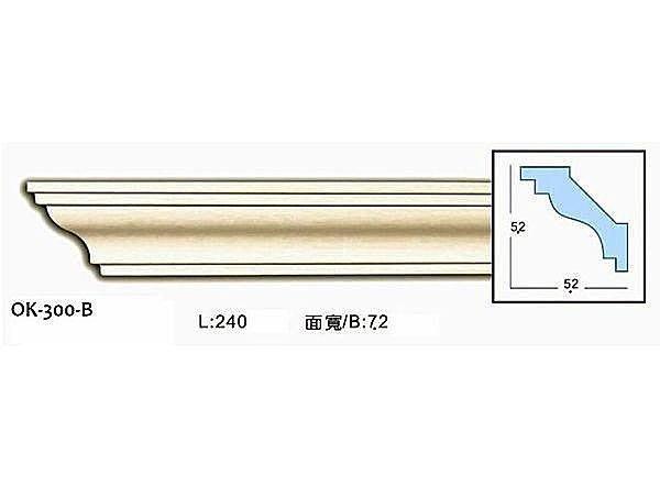 歐式 PU浮雕線板裝飾框. 天花板框邊修飾 ∵促銷 素面角線板OK-300-B 可搭配內角DIY以降低施工期
