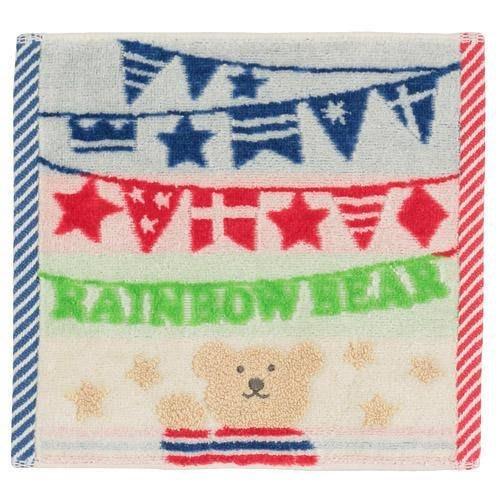 日本製~彩虹熊 國旗款 小毛巾 20X20(不挑色隨機出貨)