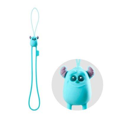 正BONE 防刮彈力吊繩毛怪 迪士尼 怪獸電力 大眼仔 手機 吊飾 掛飾 可愛 動物 造形 柔軟 彈性 矽膠 裝飾