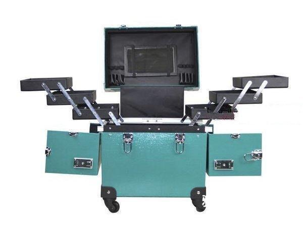 【格倫雅】^專業美容箱拉桿箱化妝箱鏡子箱跟妝箱大號開箱外貿911[g-l-y17