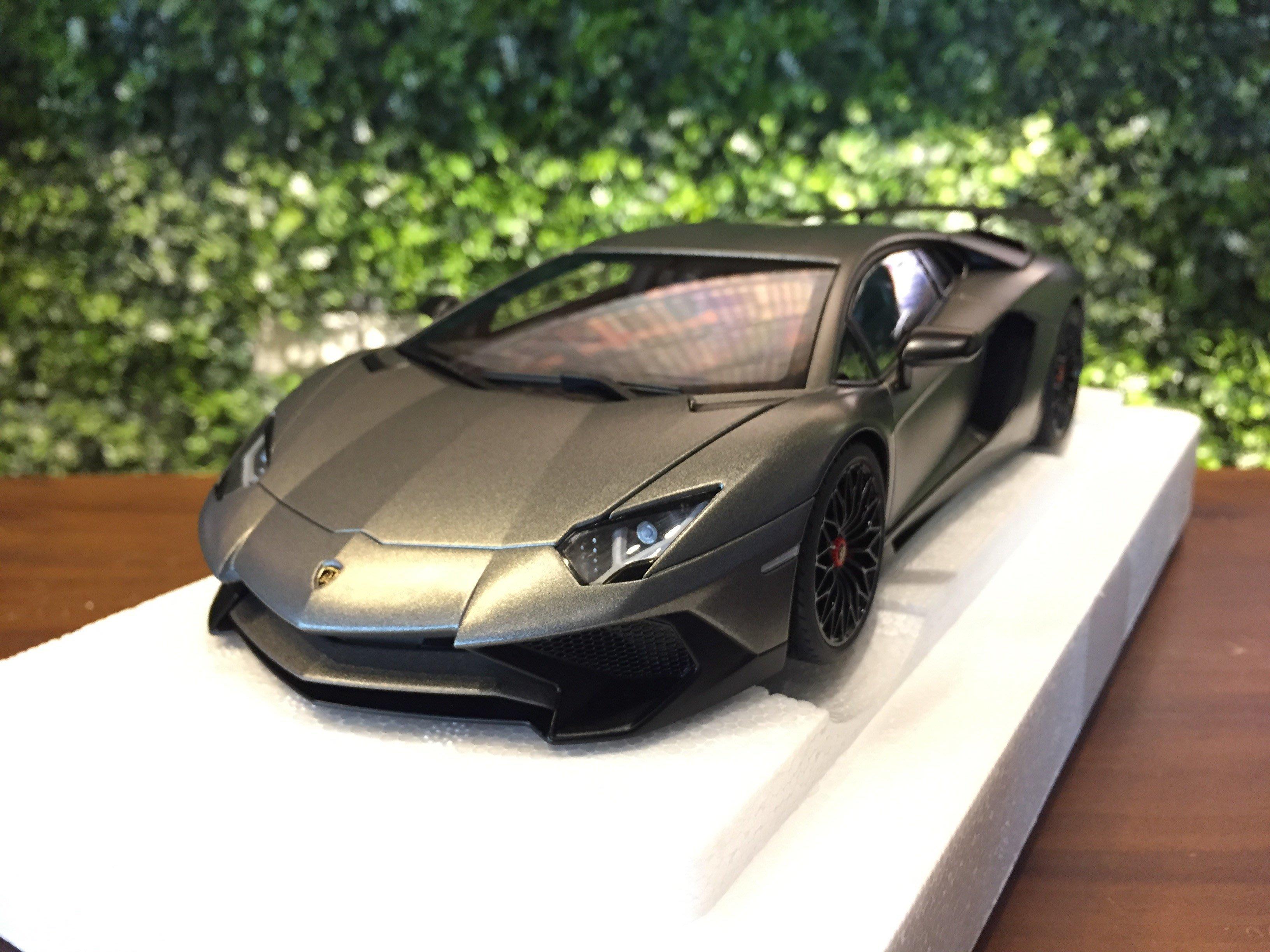 1/18 AUTOart Lamborghini Aventador LP750-4 SV Matt Grey【MGM】