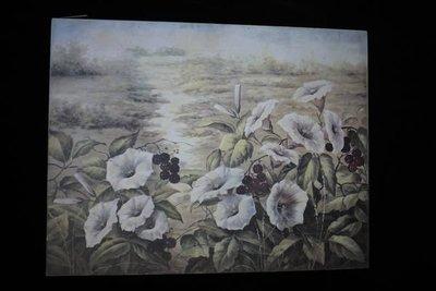 【布拉格歐風傢俱】鄉村風仿舊油畫筆觸木底框花朵掛畫 居家店面掛飾 禮物