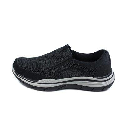 【E.P】SKECHERS EXPECTED 2.0 運動鞋 懶人鞋 男鞋 黑色 針織 204000BLK