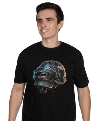 【丹】J!NX_PUBG BORN TO LOOT PREMIUM TEE 絕地求生 三級頭盔 吃雞 男版 T恤