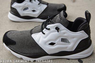 【HYDRA】 Reebok Furylite Asymmetrical 陰陽 太極 黑灰白 慢跑鞋 女鞋 V68677